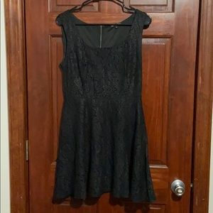 BE BOP - Black Lace Skater Dress
